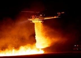 Night firebombing image